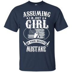 Veteran Daughter Shirts Assuming I'm just a girl your biggest mistake T-shirts Hoodies Sweatshirts - TeeDoggie.Com