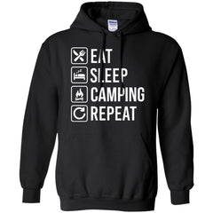 Camping Shirts Camping Eat Sleep Repeat T-shirts Hoodies Sweatshirts