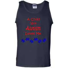 Autism Awareness A Child With Autism Loves Me Shirts Hoodies Sweatshirts