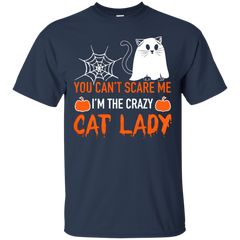 Pet Cats T-shirts You Can't Scare Me I'm The Crazy Cat Lady Shirts Hoodies Sweatshirts