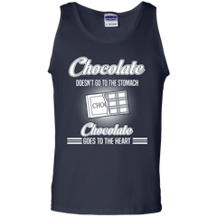 Food Shirts Chocolate Doesn't Go To The Stomach It Goes To The Heart T shirts Hoodies Sweatshirts