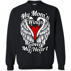 Mother's day Family T-shirts My Mom's Wings Cover My Heart Shirts Hoodies Sweatshirts