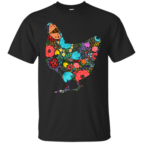 Chicken Shirts Flowers T shirts Hoodies Sweatshirts - TeeDoggie.Com