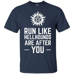 Supernatural T-shirts Run Like Hellhounds Are After You Shirts Hoodies Sweatshirts - TeeDoggie.Com