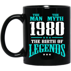 1980 Mug The Man The Myth The Birth of Legends Coffee Mug Tea Mug