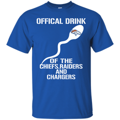 1 Denver Broncos shirts Official drink of the chiefs Raiders and chargers T-shirts Hoodies - TeeDoggie.Com