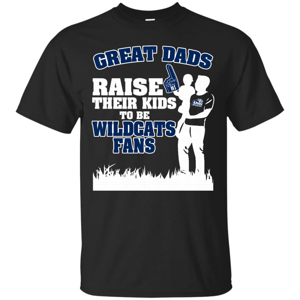 New Hampshire Wildcats Father T shirts Great Dads Raise Their Kids To Be Wildcats Fans Hoodies Sweatshirts