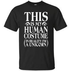 Unicorn T-shirts This Is My Human Costume In Reality I'm A Unicorn Shirts Hoodies Sweatshirts