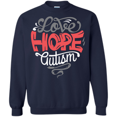 Autism Awareness T-shirts Love Hope With Autism Shirts Hoodies Sweatshirts