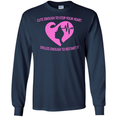 Nurses Shirts Cute to stop heart Skilled to restart it T-shirts Hoodies Sweatshirts