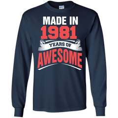 1981 Shirts Made in 1981 Year of Awesome T-shirts Hoodies Sweatshirts - TeeDoggie.Com