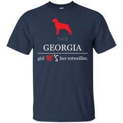 Dog Rottweiler Georgia Girl Shirts This girl loves rottweiler T-shirts Hoodies Sweatshirts