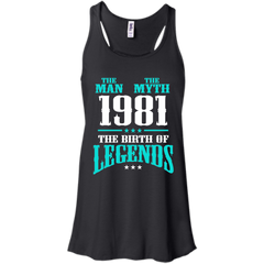 1981 Shirts The Man The Myth The Birth of Legends T-shirts Hoodies Sweatshirts - TeeDoggie.Com