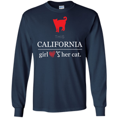 Cat California Girl Shirts This girl loves cat T-shirts Hoodies Sweatshirts