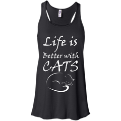 Cat Shirts Life is Better with Cats T-shirts Hoodies Sweatshirts - TeeDoggie.Com