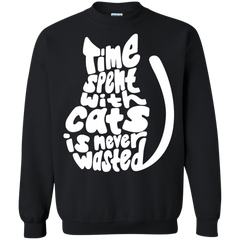 Cat Shirts Time Spent With Cats Is Never Wasted T shirts Hoodies Sweatshirts - TeeDoggie.Com
