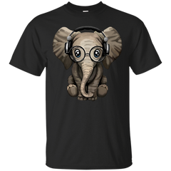 Elephant Shirts Animal Headphone T shirts Hoodies Sweatshirts