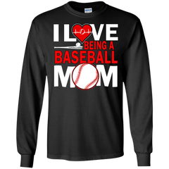 Mother's day Family Mom T-shirts I Love Being a Baseball Mom Shirts Hoodies Sweatshirts