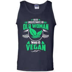 Old woman vegan Shirts Never underestimate Old woman Vegan T-shirts Hoodies Sweatshirts