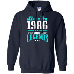 1986 Shirts The Man The Myth The Birth of Legends T-shirts Hoodies Sweatshirts