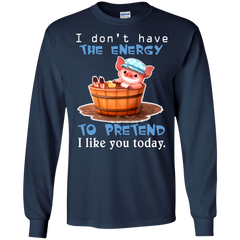 Animal Pigs T-shirts  I Don't Have The Energy Shirts Hoodies Sweatshirts