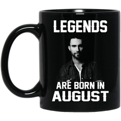 Adam Levine Mug Legends Are Born In August Coffee Mug Tea Mug
