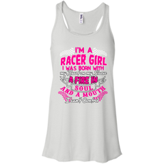 Racer T-shirts I'm A Race Girl I Was Born With My Heart On My Sleeve Shirts Hoodies Sweatshirts