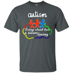 Autism Shirts Every Cloud Has a Silver Lining T shirts Hoodies Sweatshirts