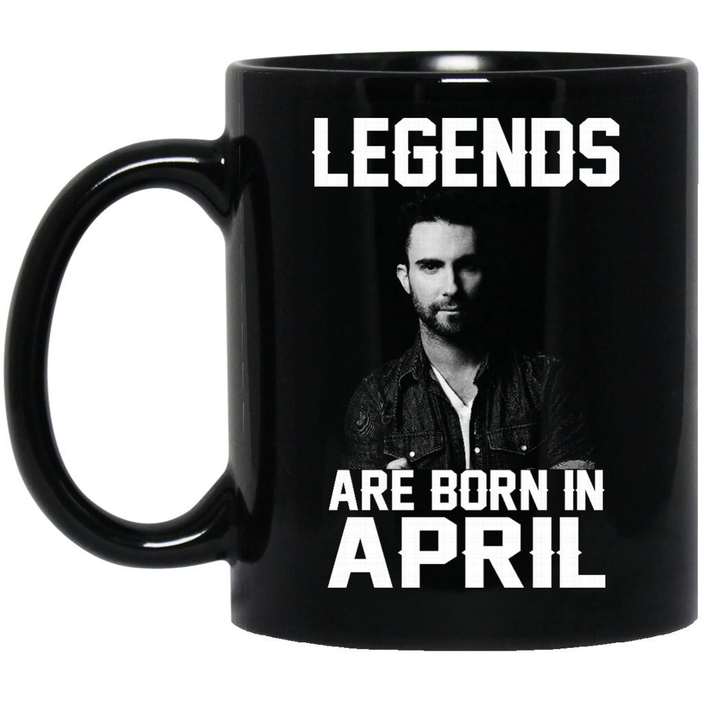 Adam Levine Mug Legends Are Born In April Coffee Mug Tea Mug