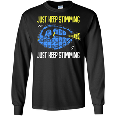 Autism Awareness T-shirts Just Kee[ Stimming Shirts Hoodies Sweatshirts