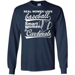 Lady Baseball Cardinals Shirts Real Love Baseball Smart Love Cardinals T-shirts Hoodies Sweatshirts