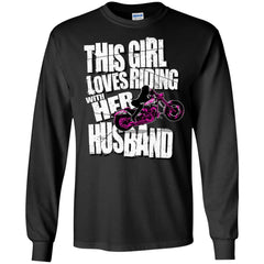 Biker Girl Shirts This Girl Loves Riding With Her Husband T-shirts Hoodies Sweatshirts