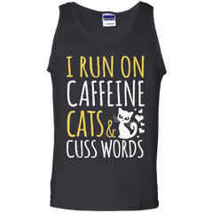 Cat LoversT-shirts  I Run On Caffeine Cats and Cuss Words Shirts Hoodies Sweatshirts