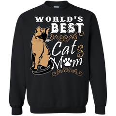 Cat Animal Lovers T-shirts Worlds Best Cat Mom Shirts Hoodies Sweatshirts