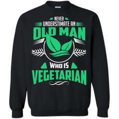 Man Vegetarian Shirts Never underestimate old man who is Vegetarian T-shirts Hoodies Sweatshirts
