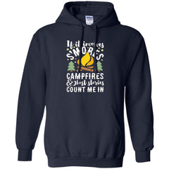 Camping Shirts S'MORES CAMPFIRES AND GHOST STORIES T-shirts Hoodies Sweatshirts
