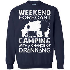 Camping Shirts WEEKEND FORECAST CAMPING DRINKING T-shirts Hoodies Sweatshirts