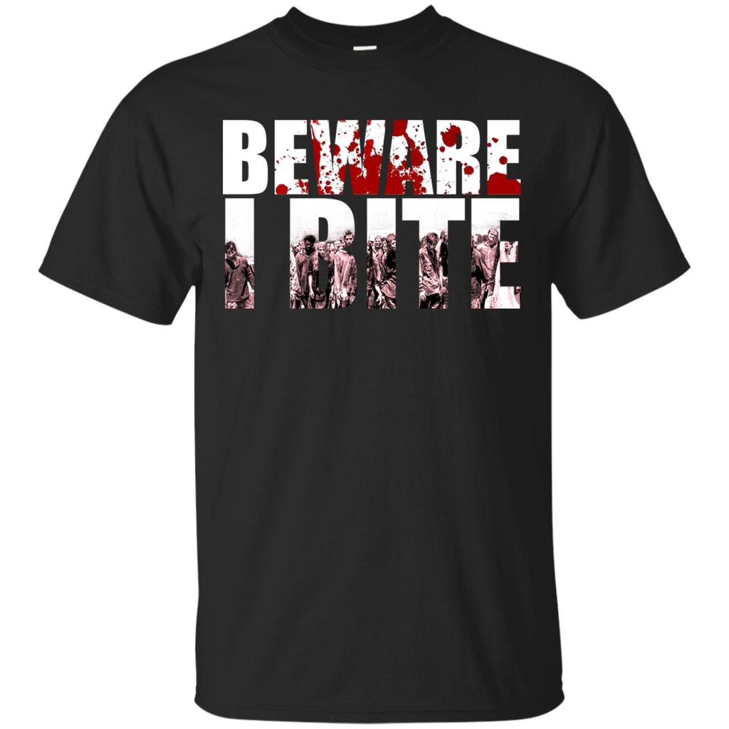 The Walking Dead Shirts Beware I Bite T shirts Hoodies Sweatshirts - TeeDoggie.Com