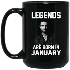 Adam Levine Mug Legends Are Born In January Coffee Mug Tea Mug