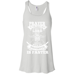 Family Shirts Praying Messing with daughter is faster T-shirts Hoodies Sweatshirts (in front of)