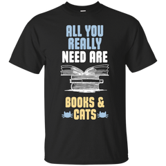 Cat Book Shirts All You Need Are Books Cats T-shirts Hoodies Sweatshirts