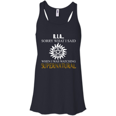 Supernatural Shirts I'm Sorry For What I Said When I Was Watching Supernatural T shirts Hoodies Sweatshirts
