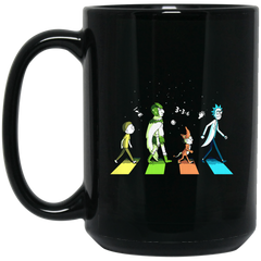 Abbey Road The Beatles Rick And Morty Coffee Mug Tea Mug