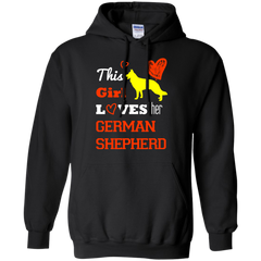 Dog German Shepherd Girl Shirts This Girl loves German Shepherd T-shirts Hoodies Sweatshirts
