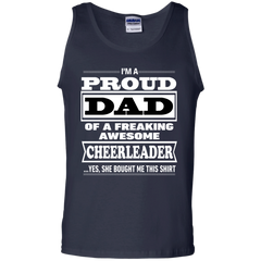Father's Day Shirts I'm A Proud Dad Of A Freaking Awesome Cheerleader T shirts Hoodies Sweatshirts