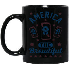 America Beer Mug AMERICA THE BREWTIFUL Coffee Mug Tea Mug