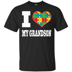Autism Awareness T-shirts I Love My Grandson With AutismShirts Hoodies Sweatshirts