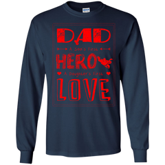 Family Shirts Dad Son's Hero Daughter's Love T-shirts Hoodies Sweatshirts