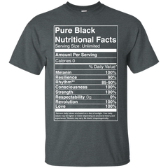 135 The Black Shirts Pure Black Nutritional Facts T-shirts Hoodies Sweatshirts - TeeDoggie.Com