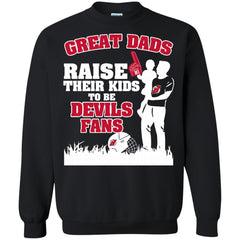 New Jersey Devils Father T shirts Great Dads Raise Their Kids To Be Devils Fans Hoodies Sweatshirts